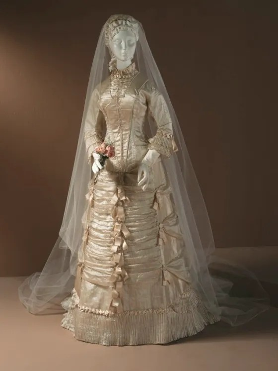Wedding Dress, c. 1878; Los Angeles County Museum of Art (M.83.231.20a-b)