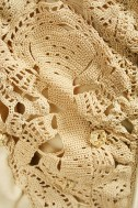 Close-up of lace detail.