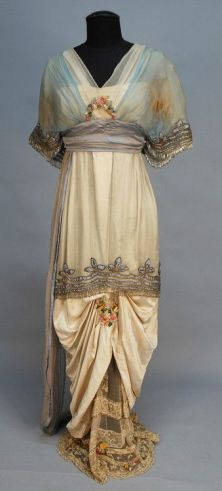 Evening Dress, Lucile Ltd. (Lady Duff-Gordon), c. 1914; from Charles A. Whitaker Auction Company