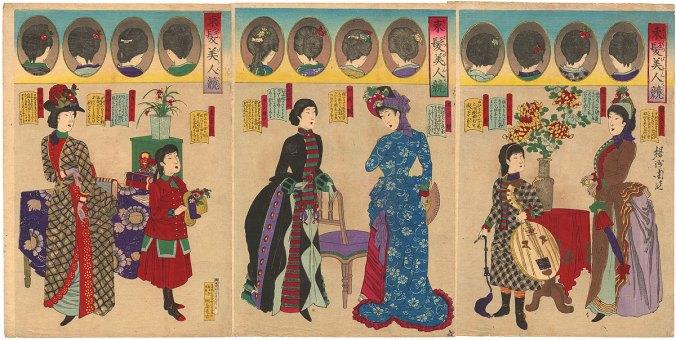 Yōshū_Chikanobu_various_hairstyles