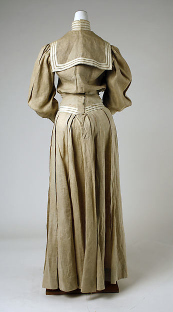 Day Dress 1895 Linen Nautical Theme