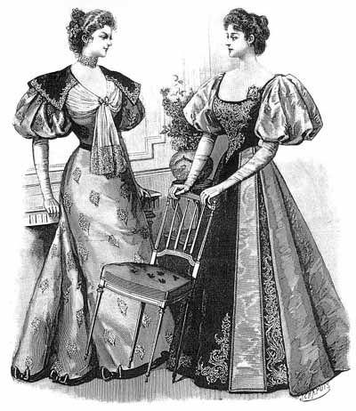 1895-dinner-dresses-harpers-bazar