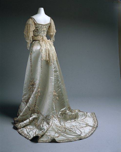 Worth Evening Dress Ball Gown c. 1900 - 1905