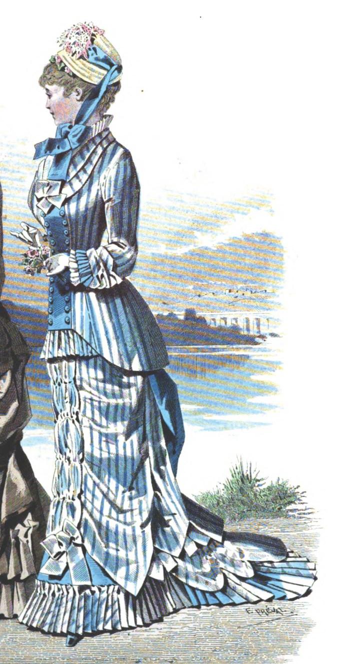 Sylvia_s_Home_Journal_1879_3 Mid-Bustle Era Design Fabric  Mid-Bustle Dress Design Adam