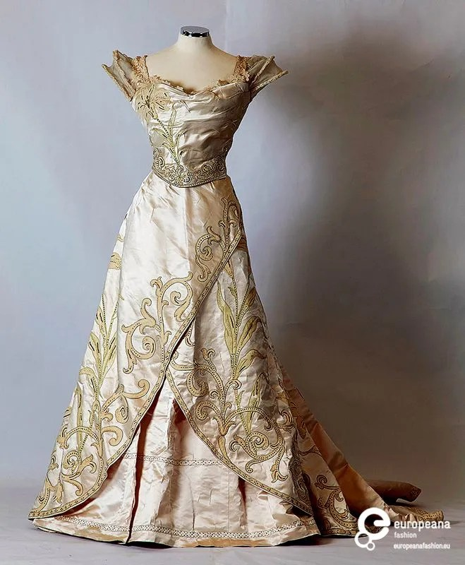 Evening Dress Ball Gown 1897 Worth