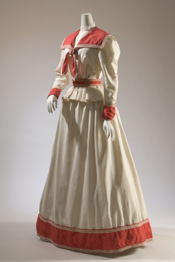 Day Dress Nautical Middy Blouse c. 1895