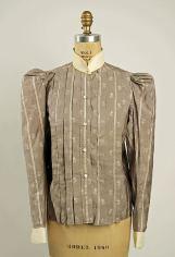 Shirt Waist, Silk/Linen c. 1890s; Metropolitan Museum of Art (C.I.56.16.20)