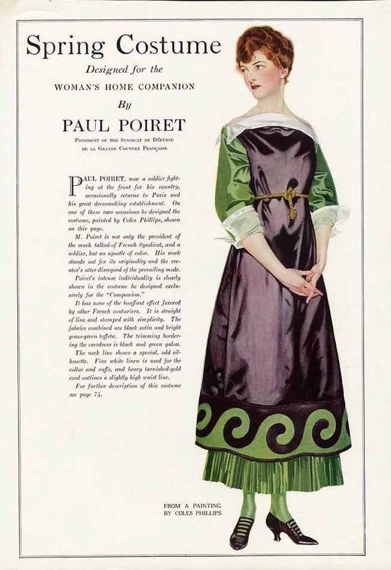 Poiret Dress Design March 1916