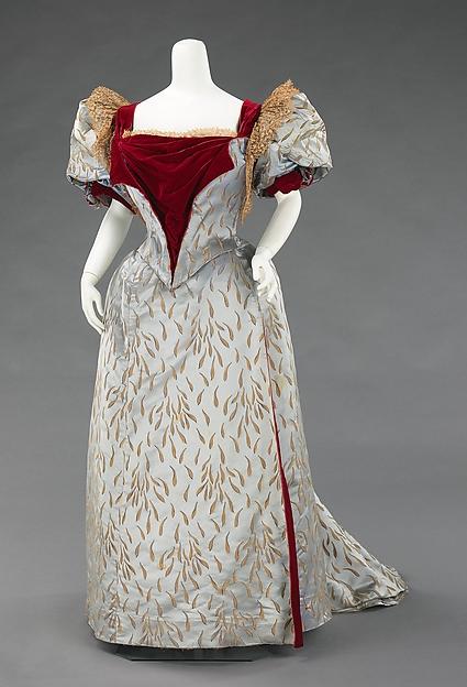 Ensemble Evening Reception Dress Worth 1893