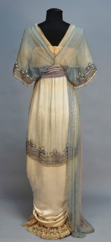 1914 Evening Dress Lucille Rear