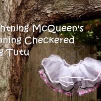 Lightning McQueen's Winning Checkered Flag Tutu