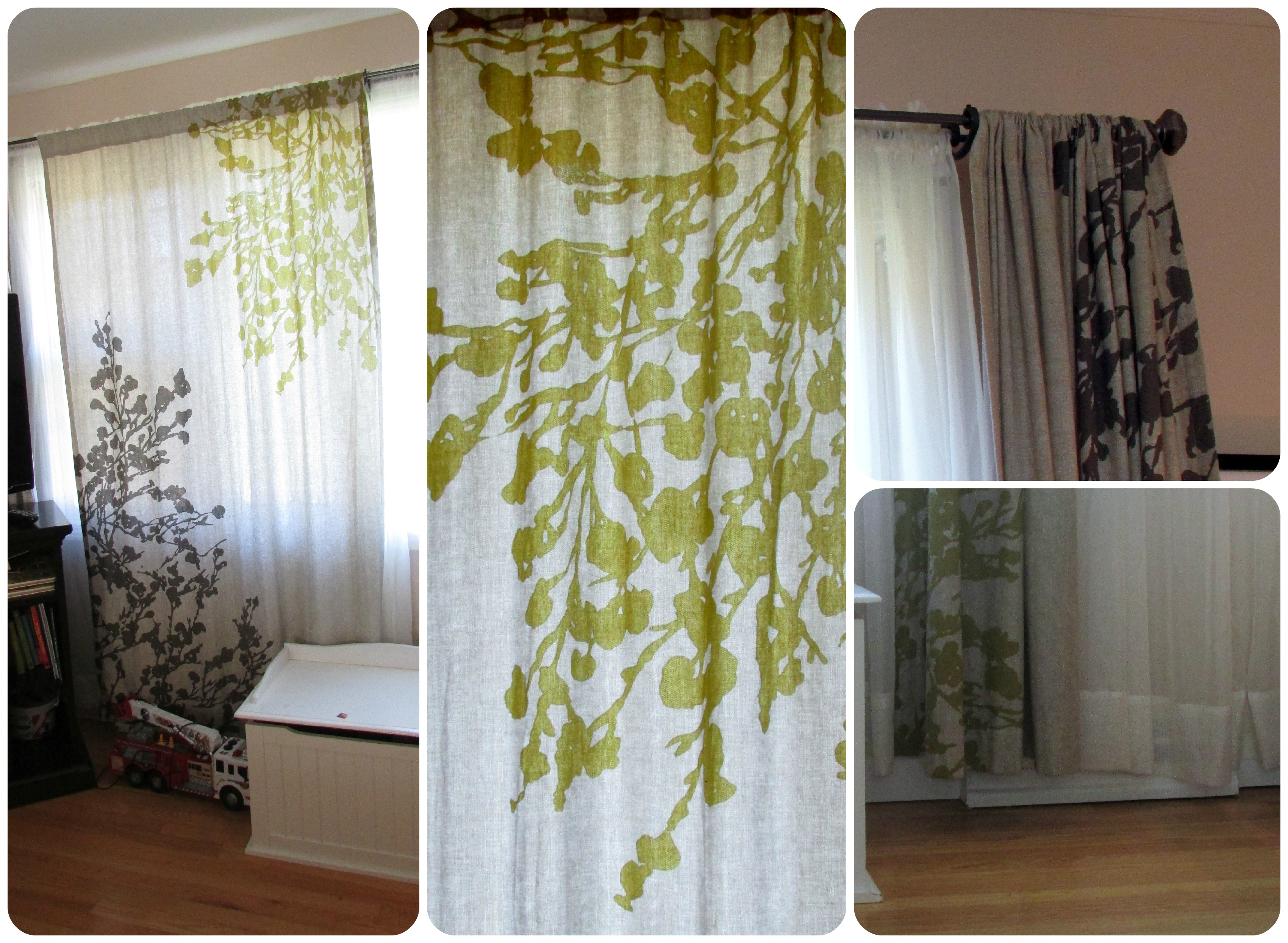 Lime Green And Brown Curtain Panels Pictures To Pin On Pinterest