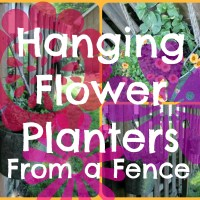 DIY Hanging Flower Planters from a Fence