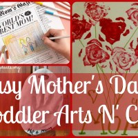 Lily & Frog Friday 5: 5 Easy Mother's Day Toddler Arts N' Crafts