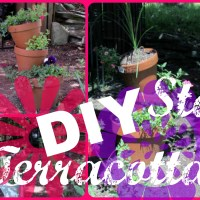 DIY Stacked Terracotta Pot Planters