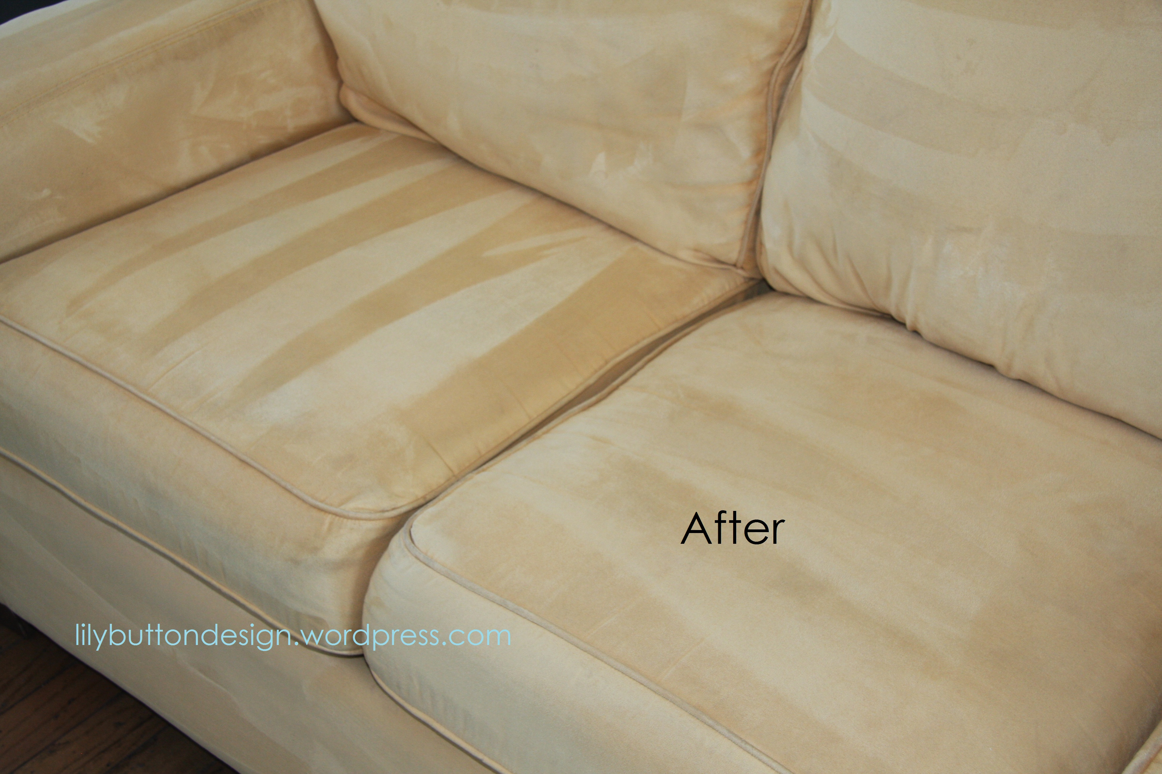 how to clean stains on fabric sofa damon leather reclining sectional reviews a microfiber couch  lilybuttondesign