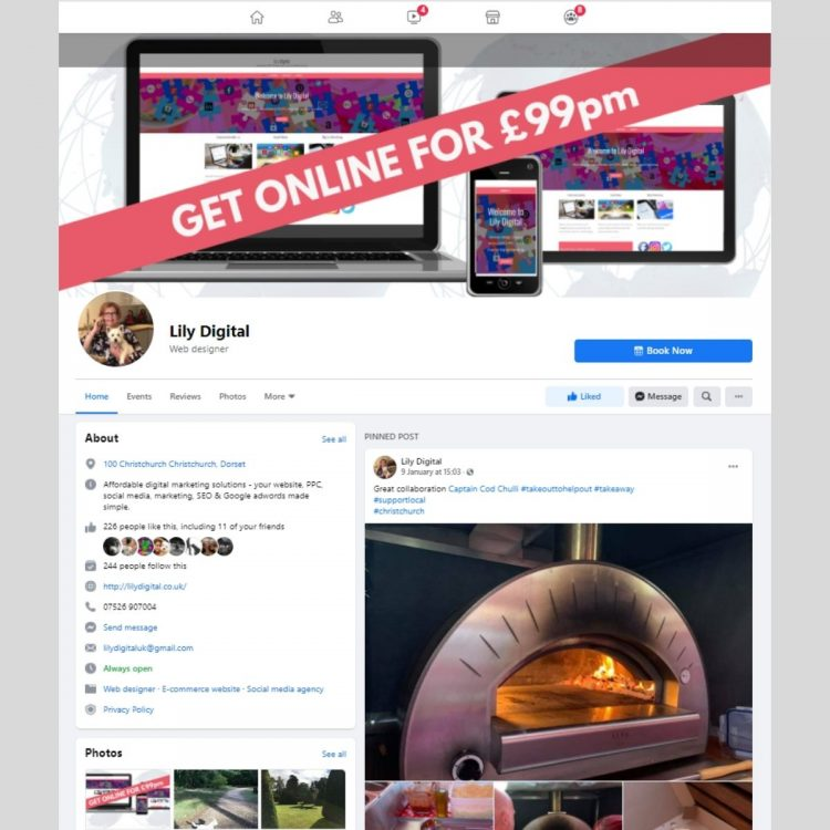 Facebook pages by Lily Digital
