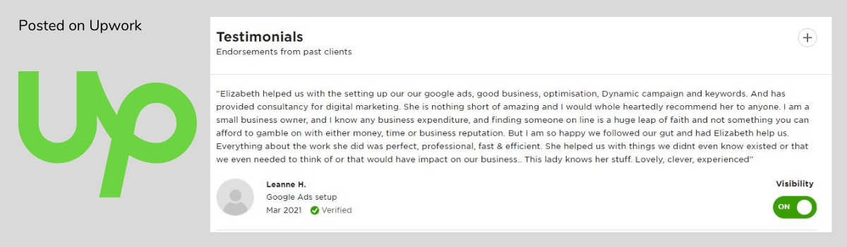 Lily Digital review Upwork1