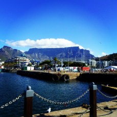 Table Mountain from V&A Waterfront Harbour