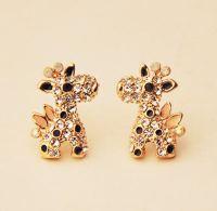 Giraffe Full Rhinestone Earrings - LilyFair Jewelry