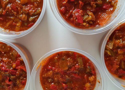 salade cuite de chabbat tchouchouka lilygourmandises