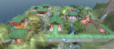 """""""Land of Illusion"""" using the directional symbolism of Chinese architectural structures"""