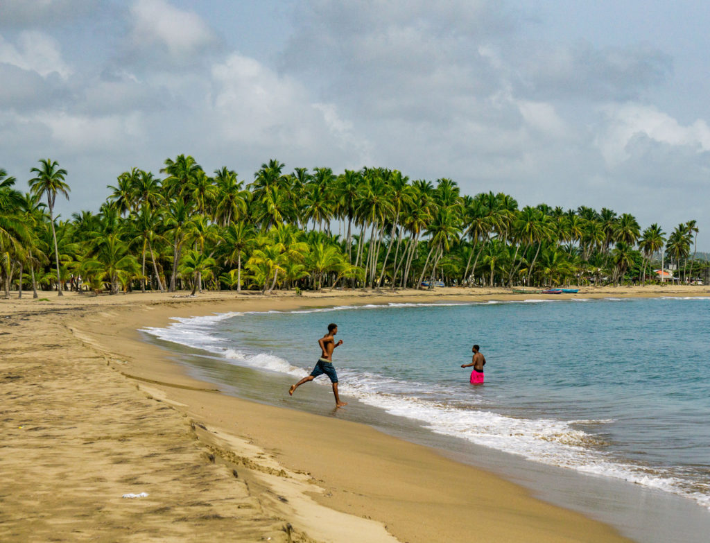 A local beach in Nagua, Dominican Republic.