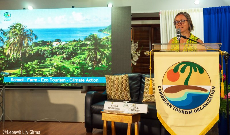 Stina Herberg speaking at Caribbean Sustainable Tourism Conference 2019