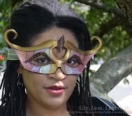 Gold Iris Goddess Mask