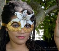 Gold Gilded Lily Mask