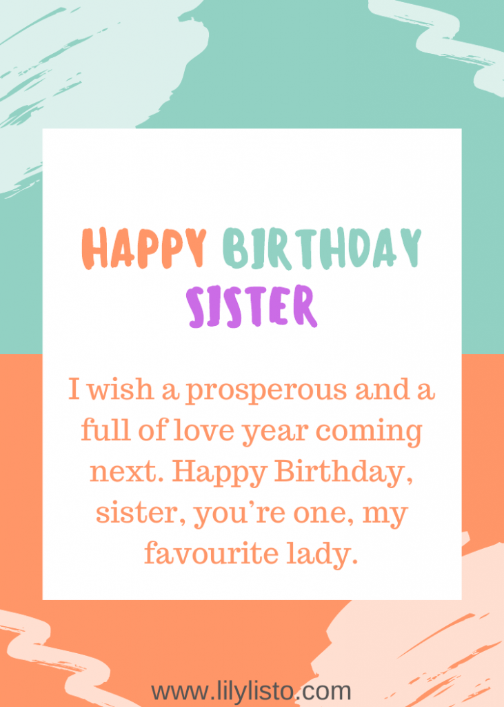 Professional And Formal Birthday Wishes And Quotes For Sister