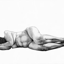 Softly, ink on paper, 105 x 75cm, 2015