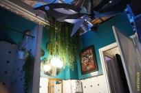 Salle de bain verte pavillon des canaux