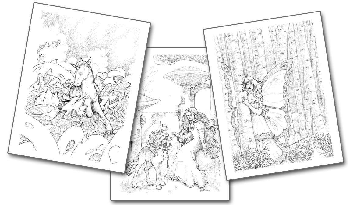 Ellen Million Graphics: Fantasy art projects, coloring