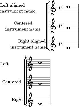 LilyPond snippets: Text