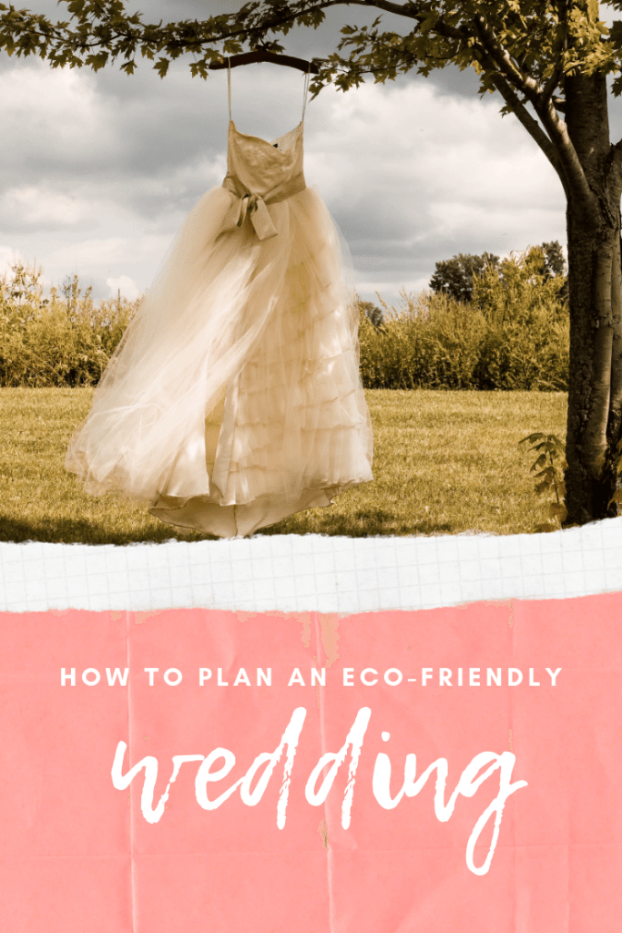 How to plan an eco-friendky wedding Pinterest banner