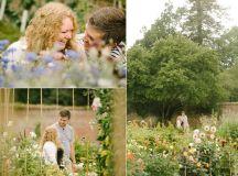 14th century Scotney Castle engagement session: summer ...