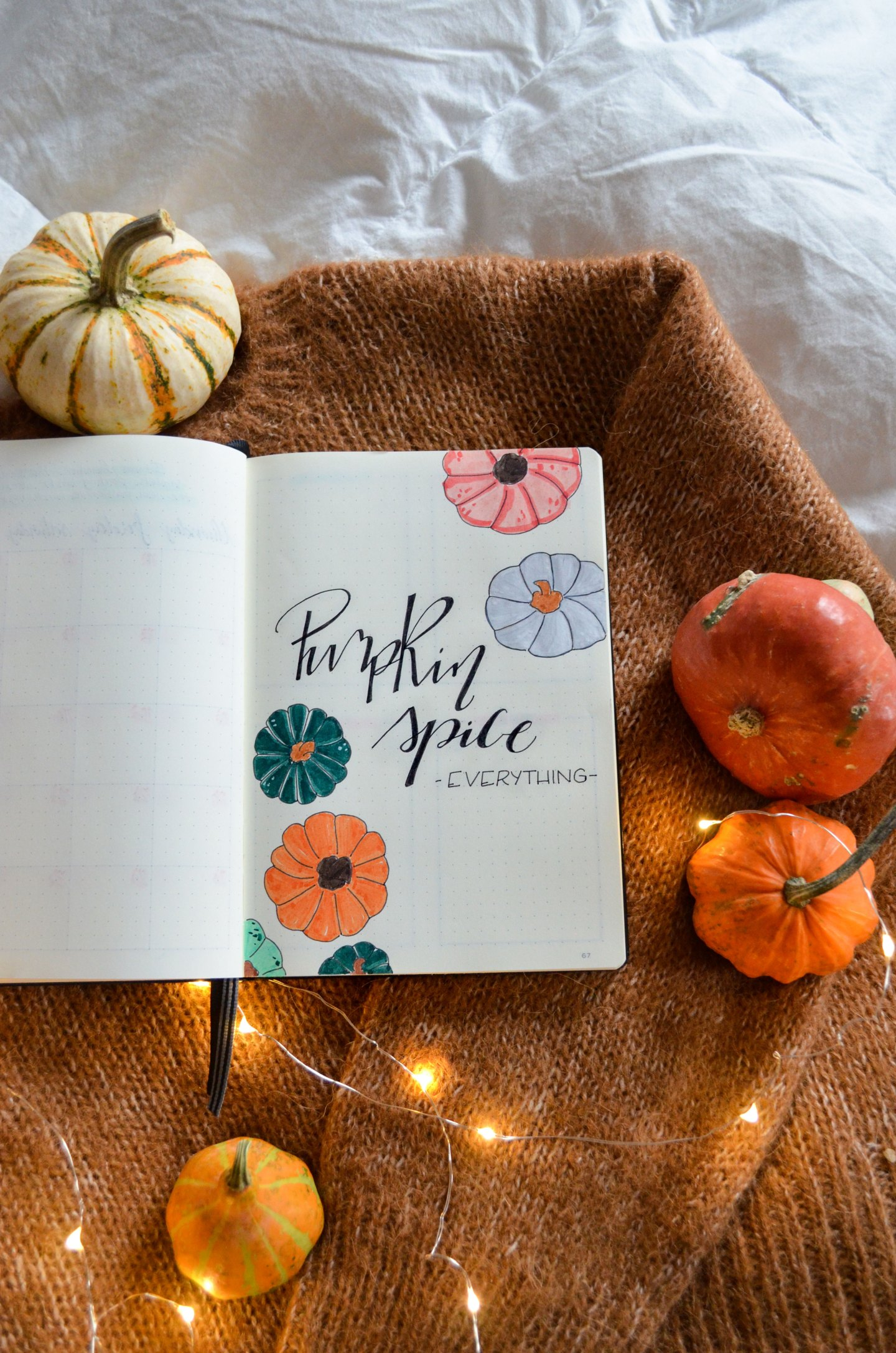 Lily's Colours November Bullet Journal: Pumpkin Bujo Quote