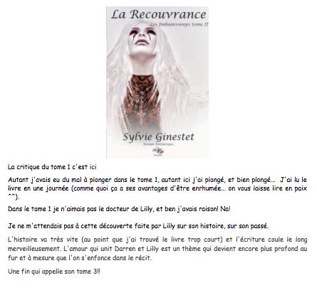 Les imhumvamps : Tome II : La recouvrance - Sylvie Ginestet - %22A coup de livres je franchirai tous ces murs%22. 2015-02-17 00-19-54