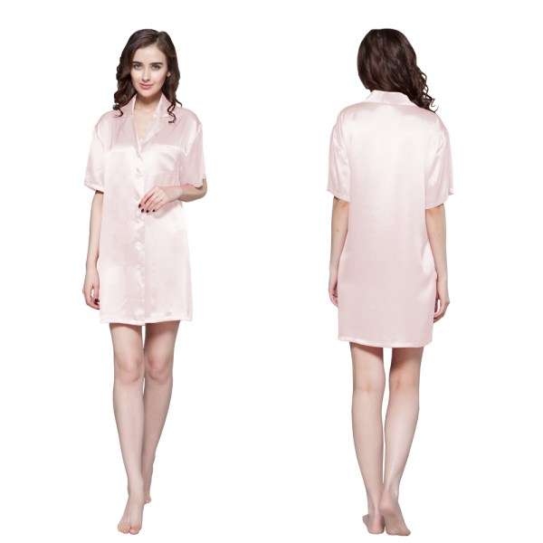 Satin Button Front Shirts for Women