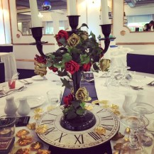 Candelabra centrepiece, inspired by Beauty and the Beast, wedding centrepieces, Glasgow by Lily Special Events