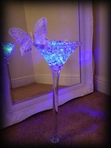 Cocktail vase wedding centrepiece, Glasgow - Lily Special Events, East Kilbride