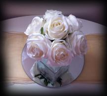 Cube rose vase, wedding centrepiece, Glasgow - Lily Special Events