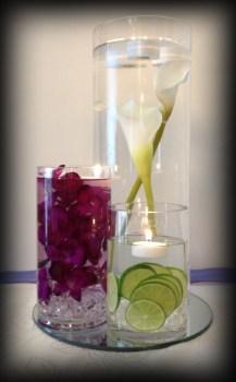 Cylinder vasewedding centrepiece, Glasgow - Lily Special Events