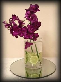Cylinder vase wedding centrepiece, Glasgow - Lily Special Events