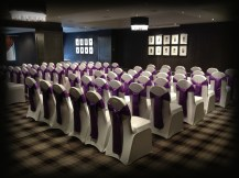 Purple satin sashes wedding, Lily Special Events, Eaglesham