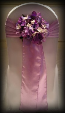 Lilac satin sash - Wedding Chair Covers South Lanarkshire