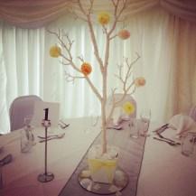 Enchanted Tree Centrepieces by Lily Special Events at Shielhill Castle, Biggar - Wedding venue decor