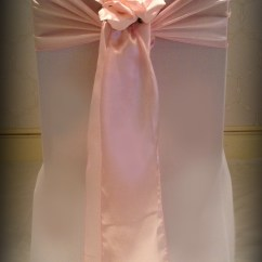 Chair Cover And Sash Hire Glasgow Star Trek Chairs Pink Satin With Rose Wedding Covers South