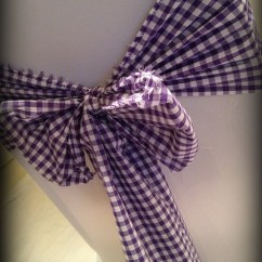 Chair Covers Scotland Bedroom Floral Purple Gingham Bow Wedding Central